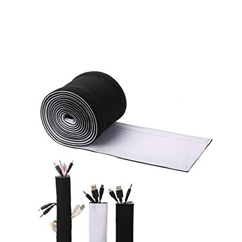Tubo de Cable de Neopreno con Velcro Reutilizable del Organizador del Cable,...