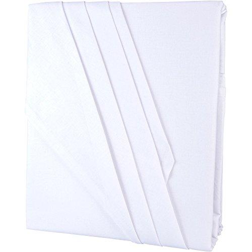 aqua-textil Edition Bettlaken ohne Spanngummi 150 x 250 cm weiß Baumwolle klassisches Betttuch