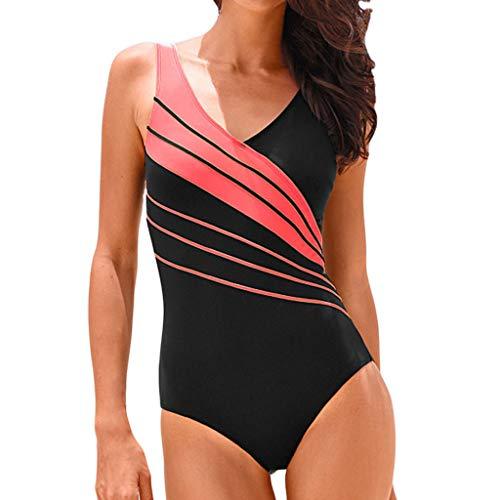 Tankinis Damen Bauchweg Push Up Solide KostüM Gepolstert Badeanzug Bikini One Piece