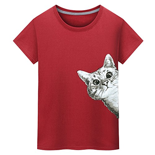 Best Bargain YOMXL Funny T-Shirt I Cat Printing Tees Shirt for Men I Casual Short Sleeve T Shirt Nov...