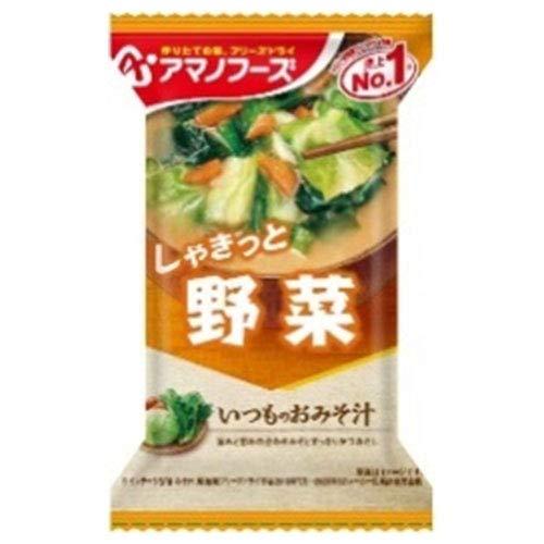 アマノフーズ フリーズドライ いつものおみそ汁 野菜 10食×6箱入×(2ケース)