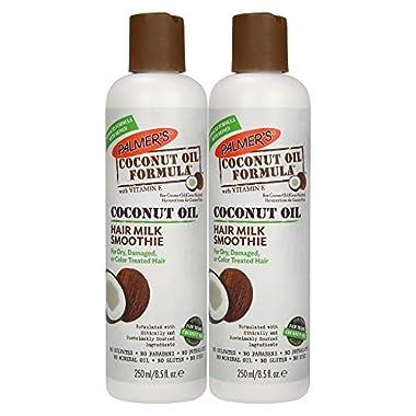 Palmer's Coconut Oil Formula Hair Milk Smoothie, 8.5 Ounces (Pack of 2)