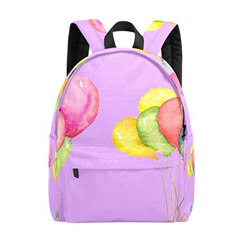 IBalody Und Regenschutz Rucksäcke Für Männer Regenschutz Teenager Rucksack Schule Uni Mehrfarbige Luftballons mit lila Hintergrund