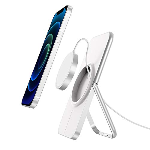 MagSafe - Soporte de carga para iPhone 12/12 Pro/12 Pro Max (aluminio), color blanco