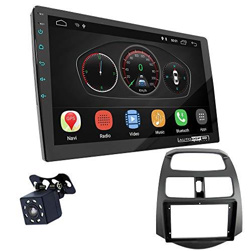 UGAR EX10 9' Android 10.0 DSP Radio de Coche mit 11-180S Panel Dash Instalación Fascia Kit Compatible para Chevrolet Spark (M300) 2010-2013 / Daewoo Matiz Creative