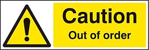 Caledonia Schilder 24210G Vorsicht Out Of Order Zeichen, selbstklebendes Vinyl, 300mm x 100mm