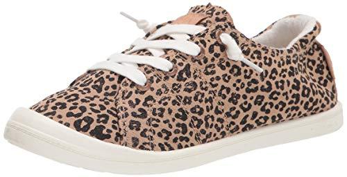 Roxy womens Rory Slip on Shoe Sneaker, Beige Cheetah Ex, 9 US