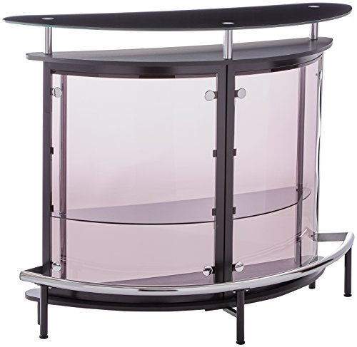Coaster CO-101065 Bar Unit, Black and Chrome