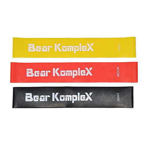 Bear KompleX Resistance Loop Bands for Home Workouts Set of 3 Levels for Hip and Glute Activation Core Strength Mobility or Strength Training For Men and Women Fitness PDF Included With Purchase
