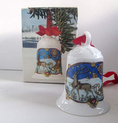 Hutschenreuther Weihnachtsglocke 1978*Rarität*ERSTAUSGABE, Porzellanglocke, Weihnachten, Baumschmuck, Anhänger