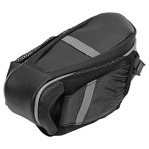 Tomanbery Bolsa de sillín con Doble Bolsa de Botella fácil de Usar para MBT o Asiento de Bicicleta de Carretera para conducción de Larga Distancia(Dark Grey)