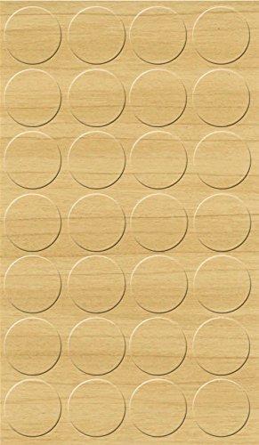 GleitGut Selbstklebende Abdeckkappen für Möbel - Durchmesser 20 mm - 28 Stück - Schrauben-Abdeckungen (Birke)