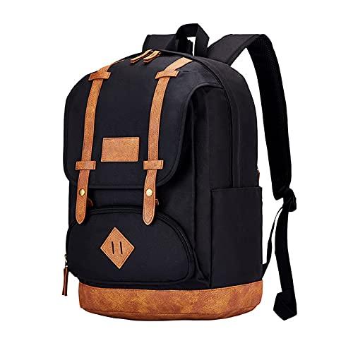 Mochila ultraligera plegable, pequeña resistente al agua, para viajes, senderismo, mochila de gran capacidad, color negro