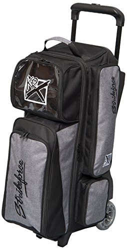 KR Unisex Strikeforce Krush Triple Roller Bowling Tasche, Stone/schwarz, One Size