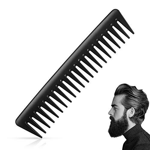 Ealicere Styling Kamm ca 19 cm Profi Lockenkamm für Haare & Bart extrem grober Zahnung Haarkamm Bruchfester Premium Antistatischer Carbon Kamm Friseur Kämme für Männer Frauen Haarstyling Pflege