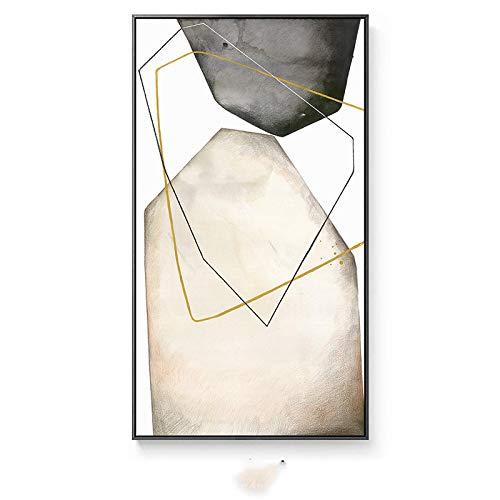 HYY-YY Creatividad Abstracta Piedra Gris Grandes Carteles Impresiones Lienzos Pinturas Arte de la Pared Imagen Pasillo del Hotel Sala de Estar Decoración del hogar 23.6'x 35.4' (60x90cm) Sin Marco