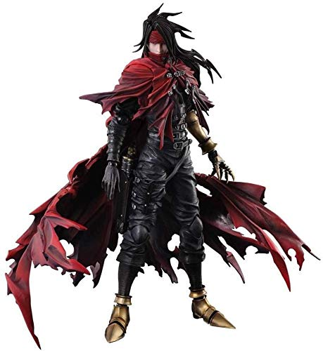 Yxsd Final Fantasy Dirge of Cerberus Vincent Valentine Play Arts Kai Action Figure - 27CM Kid's Birthday Collectible Model Toy with Equipped