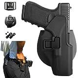 Funda para pistola OWB Paleta de pistola Tactical Cintura activa Presilla para cinturón Quickdraw CQC Ocultación para Glock 17 18c 19 19x 26 27 28 31 32 33 44 45 (Gen 1-5) con retención ajustable y canto