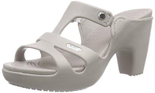Crocs Cyprus V Heel Women, Damen Pumps, Grau (Platinum/Platinum), 41/42 EU