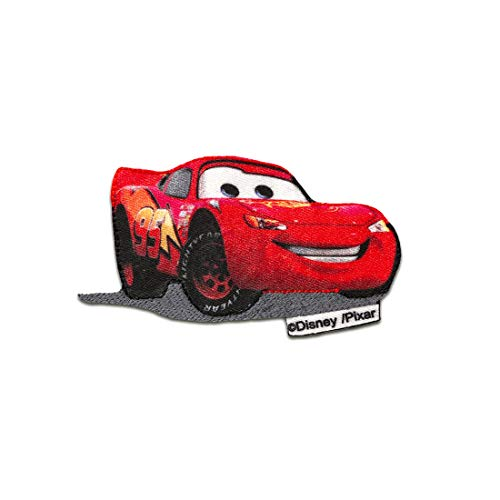 Cars Lightning McQueen 95 Disney cómico niños – rojo – 7,4x3,9cm - Parches termoadhesivos bordados aplique para ropa, tamaño: 7,4 x 3,9 cm