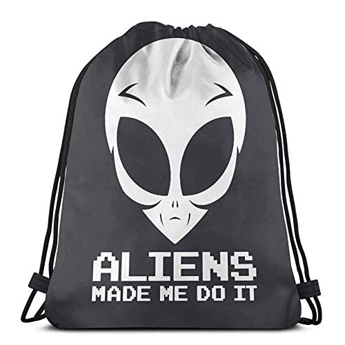 Lmtt Mochila con cordón Mochila deportiva Mochila de viaje Bolsa de viaje Los alienígenas me obligaron a hacerlo