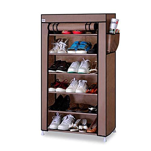 Gabinete de almacenamiento de zapatos de 10 niveles con cubierta a prueba de polvo Organizador de zapatos para zapatos para bastidores de zapatos de 27 pares