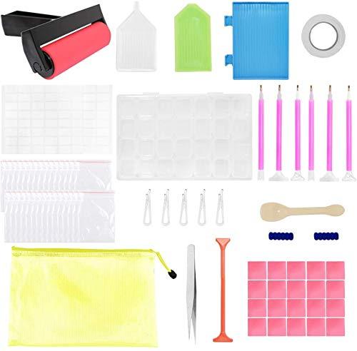 Hinleise 75 piezas de herramientas de pintura de diamantes 5D, kits de...