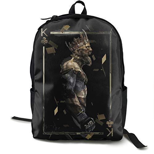 N / A Conor McGregor UFC MMA Champion Bellator Paket Klassischer Rucksack Schultasche Schwarze Tasche Arbeitsreise Zur Polyester Unisex Schule