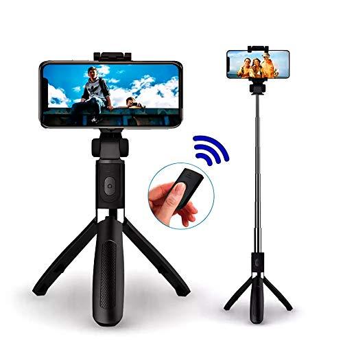 Palo selfie con mando a distancia, rotación de 360 °, inalámbrico, palo selfie inalámbrico monopod compacto compatible con iPhone Android Samsung de 3,5 a 6 pulgadas