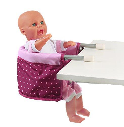 Bayer Chic 2000 735 29 - Puppen-Tischsitz, Dots Brombeere, lila/rosa