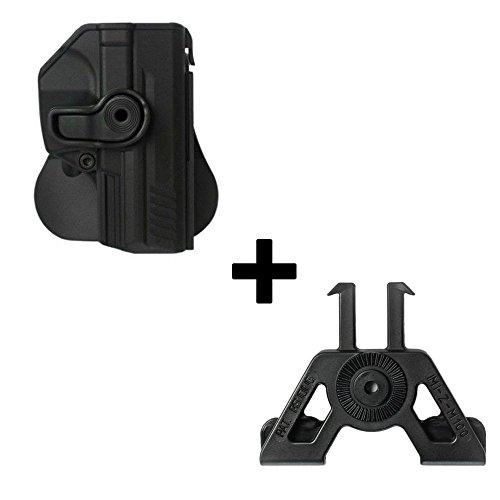 IMI Defense verstellbar drehbar drehung Pistole holster + Molle Adapter Befestigung für Heckler Koch H&K P30 / P2000 / VP9 / SFP9 9mm verdeckte Trage POLYMER Taktik ROTO Pistolenhalfter