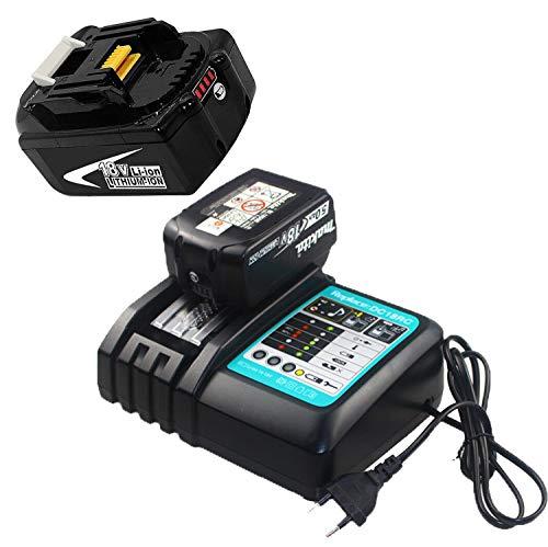 Ersatz ladegerät 18v mit akku 5,5Ah für Makita Akku-Baustellenradio 18Volt DMR104 DMR105 DMR106 DMR102 DMR109 DMR108 DMR107 Werkzeugakkus