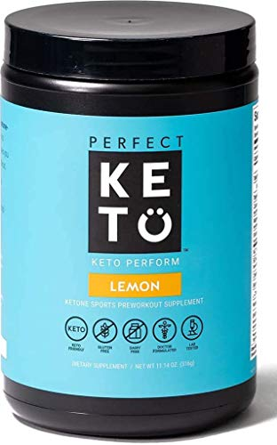 Perfect Keto Perform Pre Workout Powder - Burn Fat for Fuel Energy Supplement Drink Mix for Men and Women - Keto Friendly with Ketone Salts, BCAA, Nitric Oxide & MCT