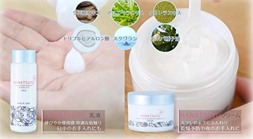 HANATSUYU(はなつゆ)クリーム80gもっちりうる肌保湿【うるおいボタニカルスキンケアシリーズ】日本製乾燥肌・敏感肌の方におすすめヒアルロン酸スクワランプラセンタホホバ油配合