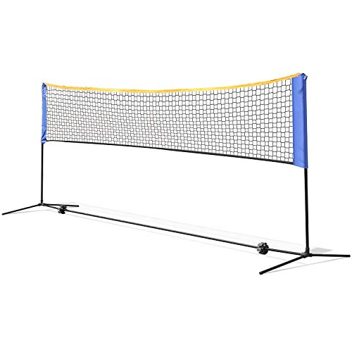 FASTDISK 13.5ft Portable Badminton Net Beach Volleyball Tennis Competition Training Net 2.5' to 5' Adjustable Height Carrying Bag