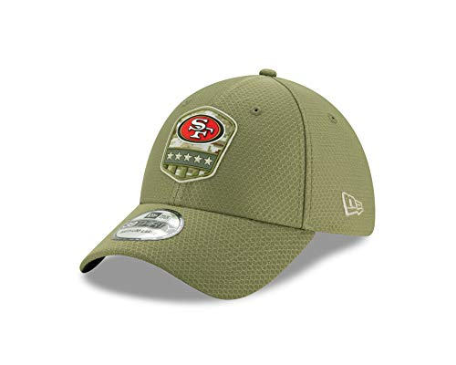 New Era San Francisco 49ers 39thirty Stretch Cap On Field 2019 Salute to Service Olive - S-M