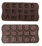 MERSUII Form mit Tiermotiven für Schokolade/Eis/Seife, Silikon