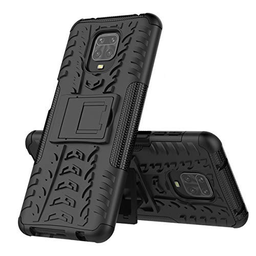xinyunew Handyhülle LG V60 Hülle,Hülle 360 Grad Ganzkörper Schutzhülle+Panzerglas Schutzfolie Schützend Handys Schut zhülle Tasche Cover Skin mit Ständer Schwarz