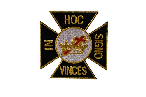 York Rite Knights Templar Cross Masonic Freemason Patch