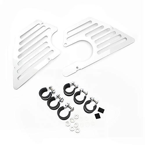 Airbox Frame Cover Protector Motorrad Airbox Abdeckungen Protektoren Verkleidung für BMW R Nine T All Model (Silber)
