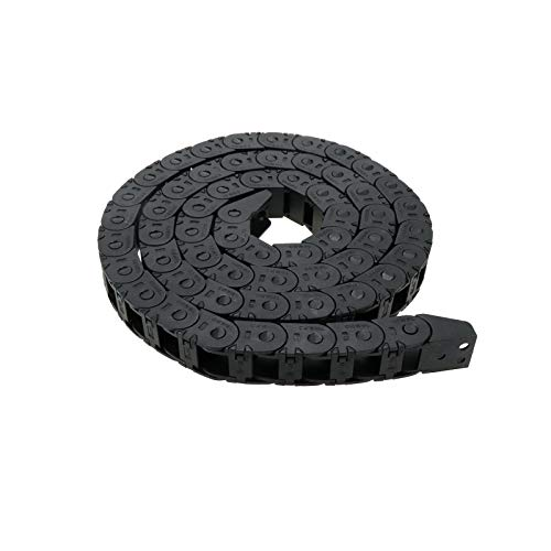 Karcy Drag Chain Nylon Black Cable Drag Chain Wire Carrier for 3D Printer and CNC Machine 10mmx20mm Internal Size Pack of 1
