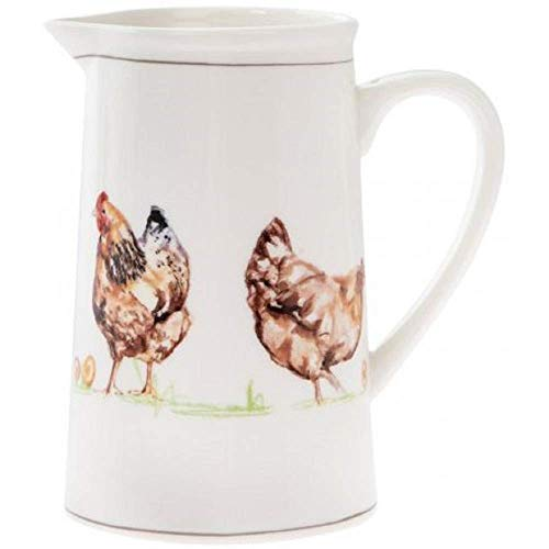 The Leonardo Collection Country Life Poulets Porcelaine Fine Cruche en Boîte Cadeau