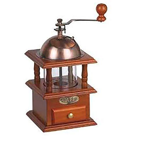 Manuelle Kaffeemühle aus Holz für Kaffeebohnen, Gewürze, Vintage, Handmühle, Kaffeemühle, verstellbare Mahlgrade, Keramikmühle, Braun