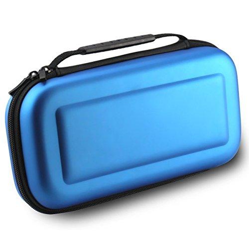 Custodia Nintendo Switch, WindTeco Custodia protettiva Borsa da viaggio in EVA per il Nintendo Switch (Azzurro)