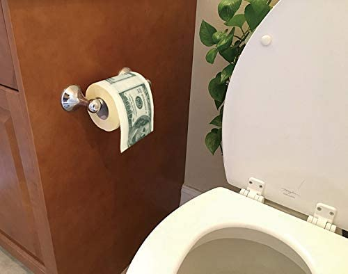 SummitLink 1 Roll 100 Hundred US Dollar Bill Toilet Paper Tissue Napkin Prank Fun Birthday Party product image