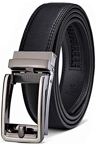 Men's Belt, Bulliant Leather Ratchet Belt For Men Dress With Click Buckle, Trim To Exact Fit,Big&Tall