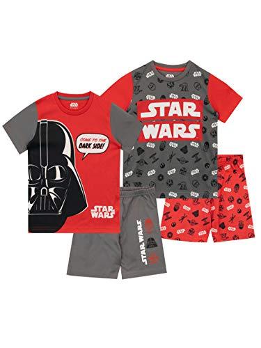 Star Wars Jungen Schlafanzug Packung mit 2 Mehrfarbig 134