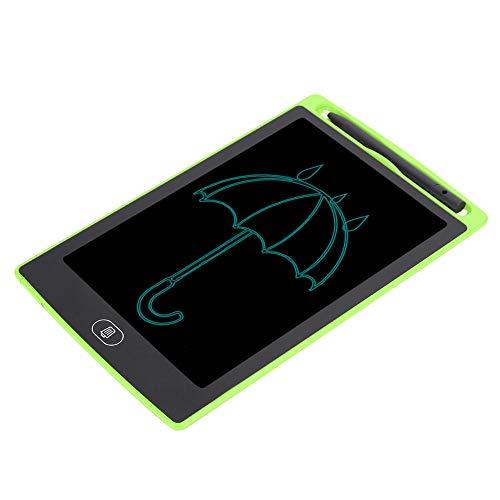 Tablero de escritura LCD, tablero de dibujo pequeño, tablero de dibujo de graffiti para niños, tablero de dibujo para el hogar, escuela, hotel, restaurante, cafetería(verde)