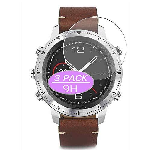 Vaxson 3 Stück 9H Panzerglasfolie, kompatibel mit Garmin Fenix Chronos smartwatch Smart Watch, Panzerglas Schutzfolie Displayschutzfolie Bildschirmschutz