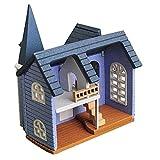 Accessori da giardino in miniatura fata, casa di città favola FAI DA TE Mini Bambole in legno Bambole in miniatura Accessori Artigianato edificio Assemblare Artigianato giocattolo Decorazione della ca